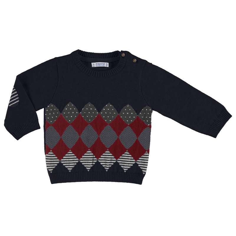 Sweater con rombos