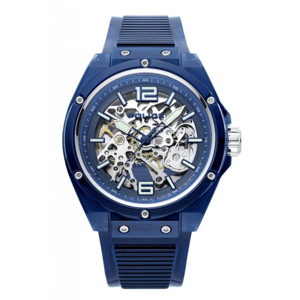 Translucent Blue Watch By Police For Men