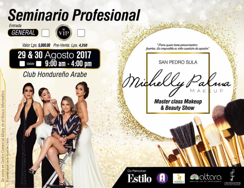 Te invitamos al Master Class & Beauty Show con Michelly Palma