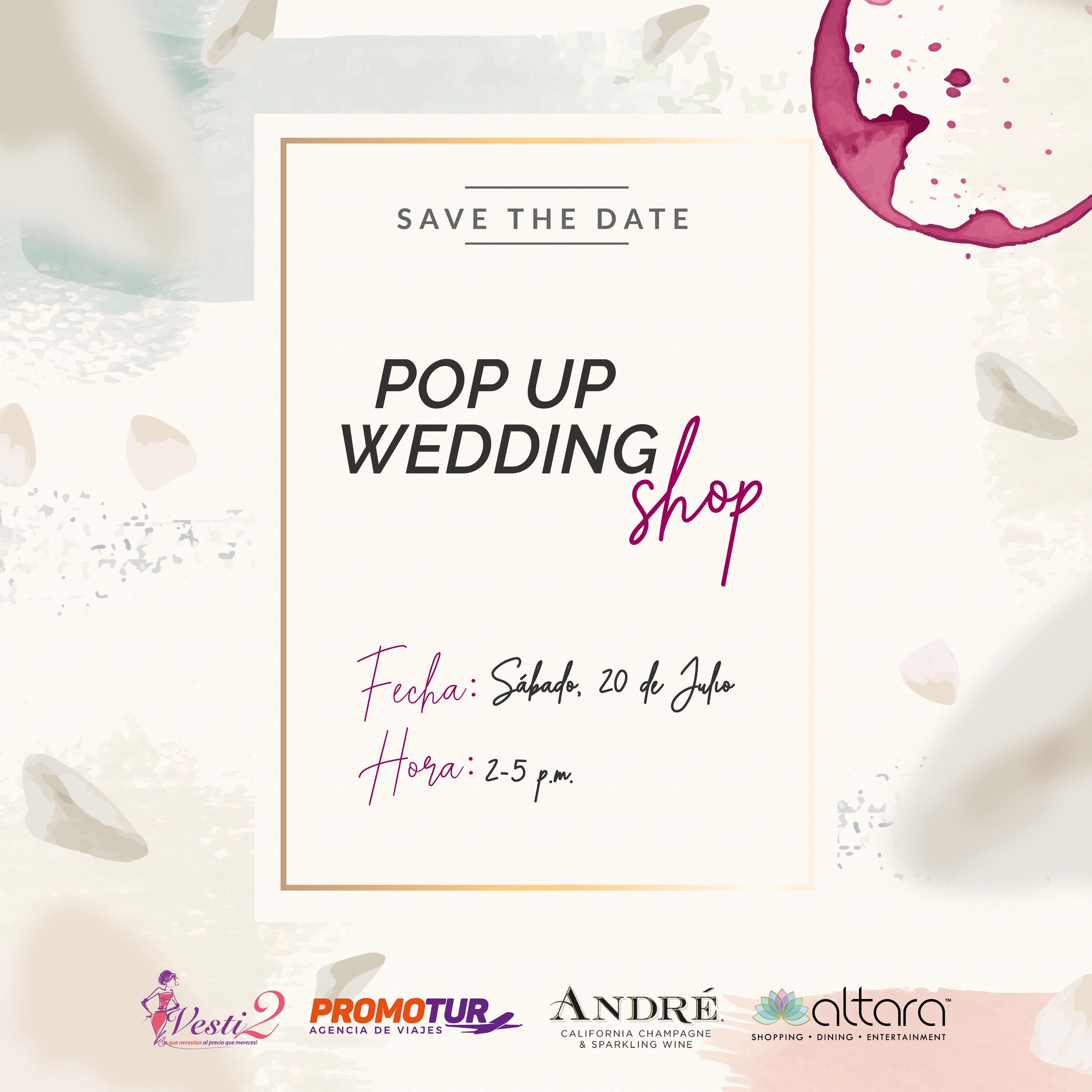 ¡POP UP WEDDING SHOP!