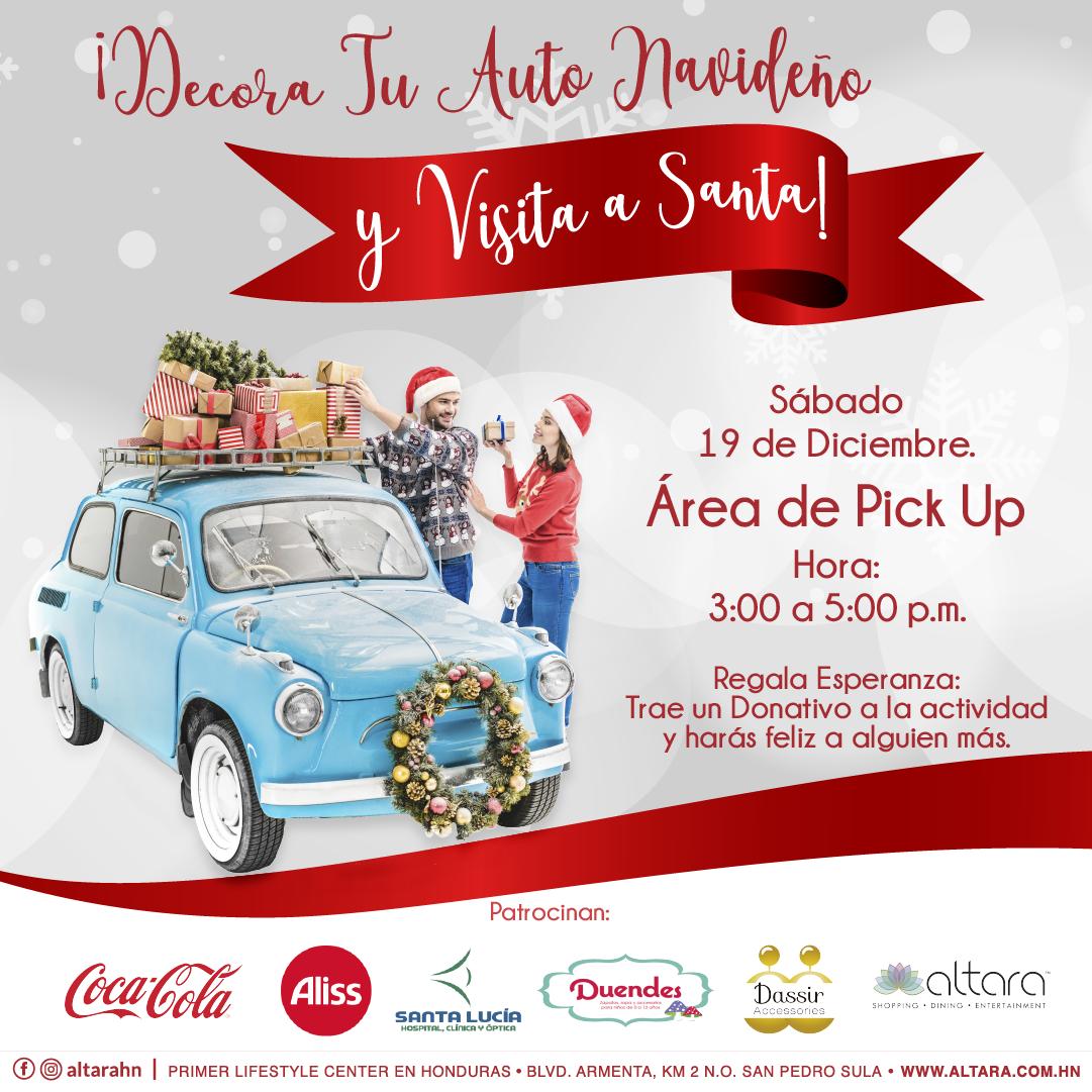 ¡Decora tu Auto Navideño y Visita a Santa!