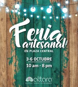 ¡Te invitamos a la Feria de Artesanos!