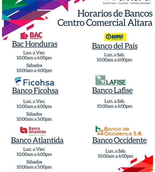 Horarios Bancos Altara