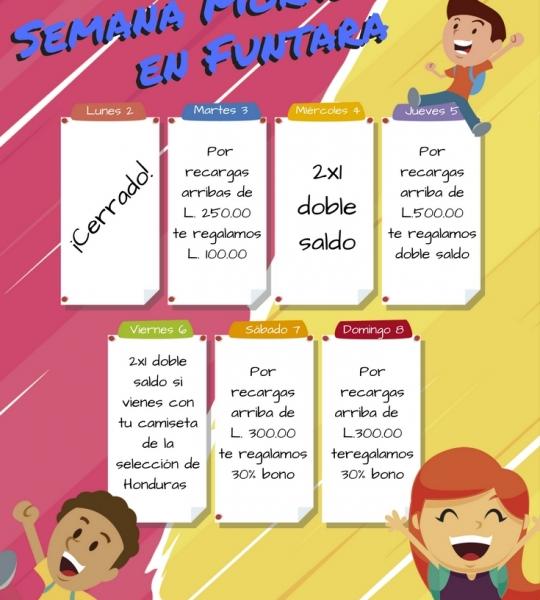 Promociones Semana Morazánica en Funtara